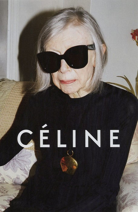 Joan Didion for Céline Photography by Juergen Teller, courtesy of Céline